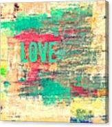 Abstract Love V2 Canvas Print
