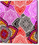 Abstract Mandala Floral Design Canvas Print
