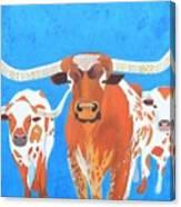 Abstract Mehndi Texas Longhorns Canvas Print