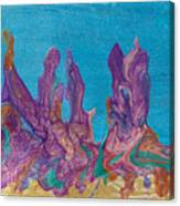 Abstract Mirage Cityscape In Blue Canvas Print