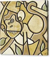 Funky Monkey - Zeeko Abstract Monkey Canvas Print