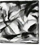 Abstract Monochome 156 Canvas Print