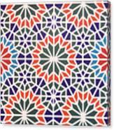 Abstract Moroccon Tiles Colorful Canvas Print