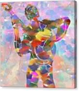 Abstract Musican Guitarist Canvas Print