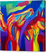 Abstract Mustangs Canvas Print