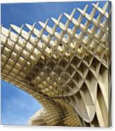 Abstract Of Metropol Parasol Pod At Plaza Of The Incarnation Sev Canvas Print