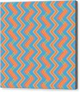 Abstract Orange, Red And Cyan Pattern For Home Decoration Canvas Print