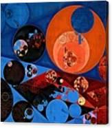 Abstract Painting - Dark Midnight Blue Canvas Print