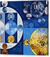 Abstract Painting - Havelock Blue Canvas Print