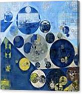 Abstract Painting - Kashmir Blue Canvas Print