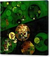 Abstract Painting - Lincoln Green Canvas Print