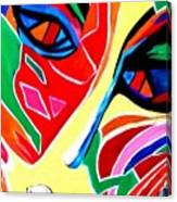Abstract Painting - Woman Of Colors Canvas Print