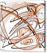 Abstract Pen Drawing Ten Canvas Print