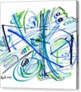 Abstract Pen Drawing Thirty-three Canvas Print
