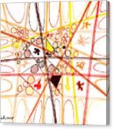 Abstract Pen Drawing Three Canvas Print
