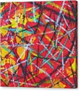 Abstract Pizza 2 Canvas Print