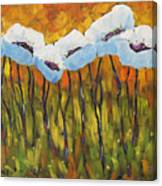 Abstract Poppies Canvas Print
