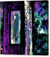 Abstract Purple Door Canvas Print