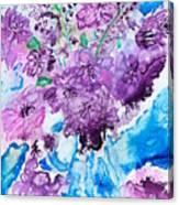 Abstract-purple Summer Canvas Print