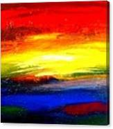 Abstract Rainbow And Sunset Canvas Print