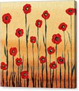 Abstract Red Poppy Field Canvas Print