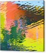 Abstract Reflection In Water 04 Canvas Print