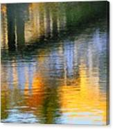 Abstract Reflection In Water 05  Canvas Print