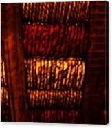 Abstract Ribbed Rows Canvas Print
