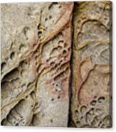 Abstract Rock Stained With Red And Gold Canvas Print
