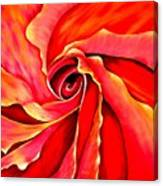 Abstract Rosebud Fire Orange Canvas Print