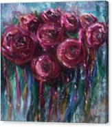 Abstract Roses Canvas Print