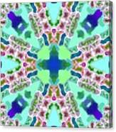 Abstract Seamless Pattern  - Blue Green Purple Pink White Canvas Print