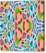 Abstract Seamless Pattern - Blue Pink Green Purple Canvas Print