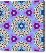 Abstract Seamless Pattern  - Blue Purple Pink Violet Lilac Orange Green Canvas Print