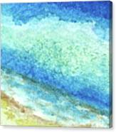 Abstract Seascape Beach Painting A1 Canvas Print