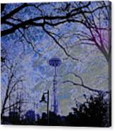 Abstract Space Needle Canvas Print