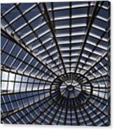 Abstract Spiderweb View Of A Central Tower Skylight At The World Canvas Print