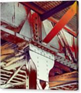 Grunge Steel Beam Canvas Print