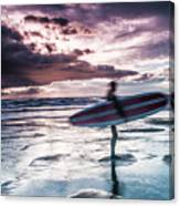 Abstract Surfer Canvas Print