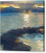 Abstract Tahoe Canvas Print
