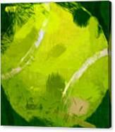 Abstract Tennis Ball Canvas Print