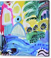 Abstract Tropical Landscape Canvas Print