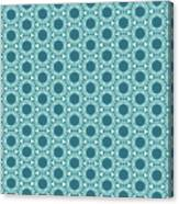 Abstract Turquoise Pattern 2 Canvas Print