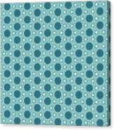 Abstract Turquoise Pattern 3 Canvas Print