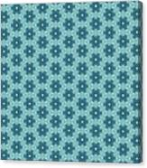 Abstract Turquoise Pattern 4 Canvas Print