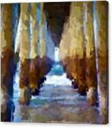 Abstract Under Pier Beach Canvas Print