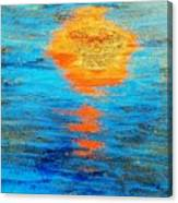 Abstract Watery Sunset Canvas Print