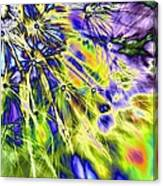 Abstract Wildflower 5 Canvas Print