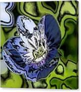 Abstract Wildflower Canvas Print