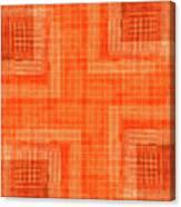 Abstract Window On Orange Wall Canvas Print